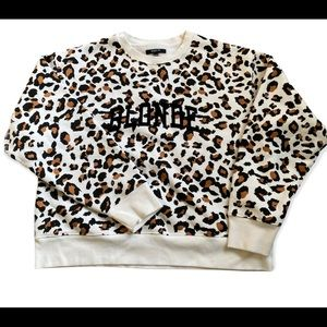 BRUNETTE The Label Cheetah Sweatshirt